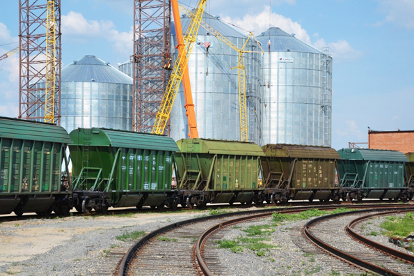 Grain transportation by railway